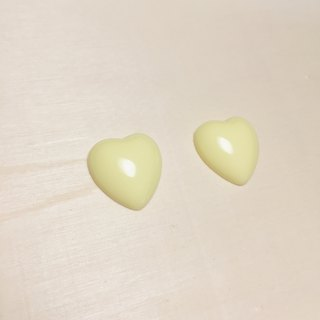 Vintage Goose Yellow Love Earrings Ear Clips