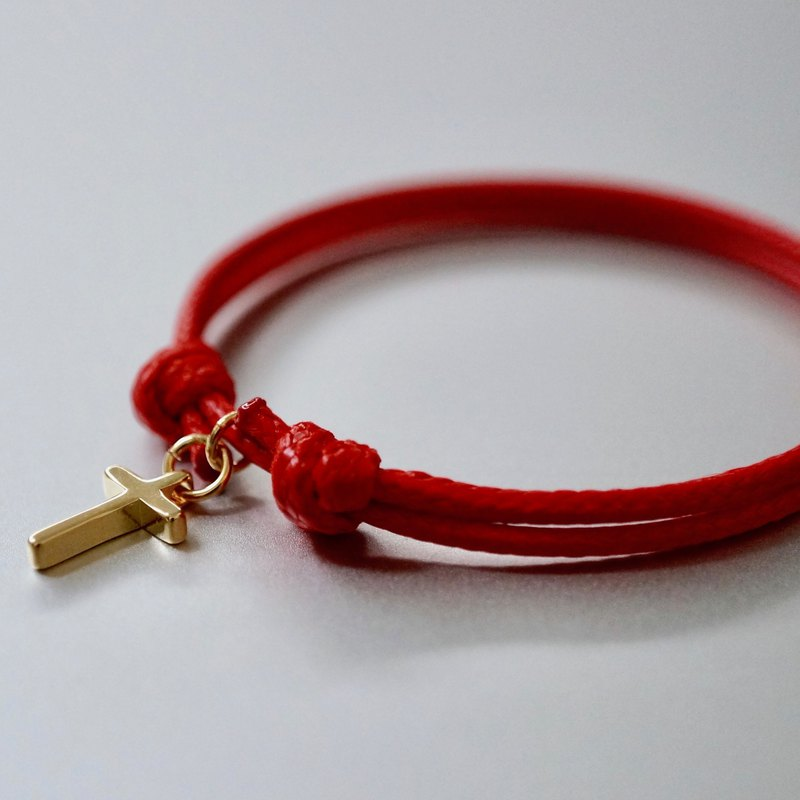 ITS-B811 [Minimal Series·It's love] Cross Wax Rope Bracelet. Partner gift