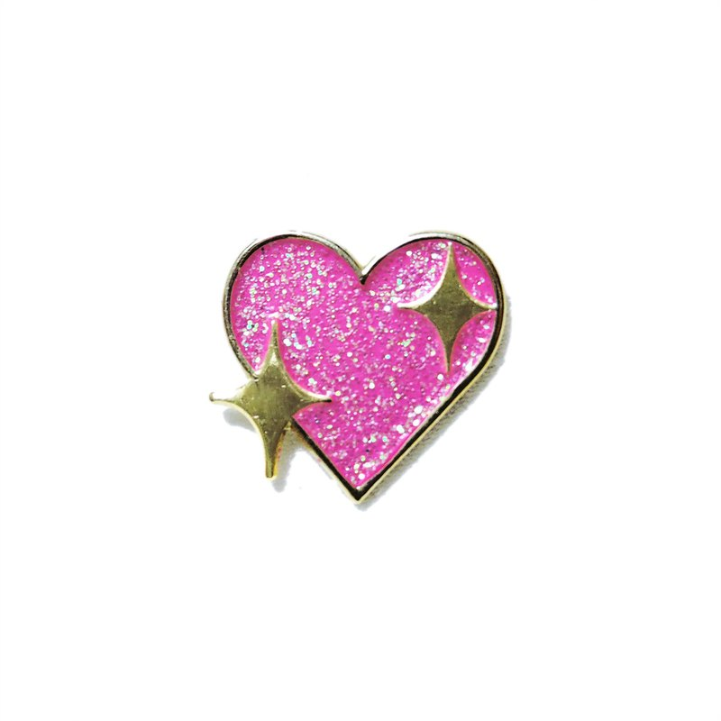 Heart Emoji Pin