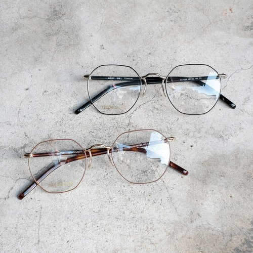 New hexagonal titanium metal frame integrated titanium nose pad design lightweight frame glasses
