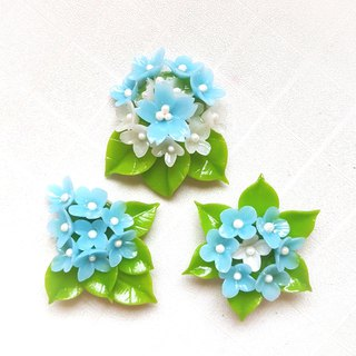 Romantic blue round flower ball molding magnet