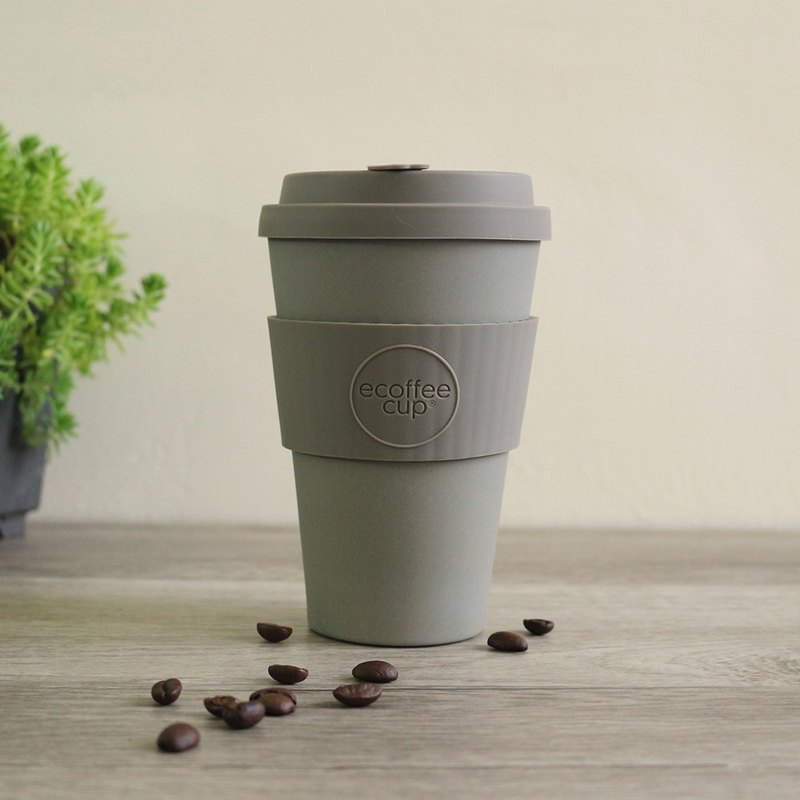 [Natural Bamboo Fiber] Coffee Cup | 14oz Accompanying Cup (Fashion Grey)