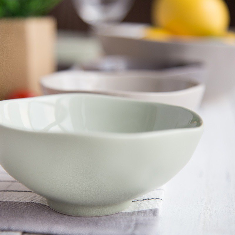 【JOYYE Ceramic Tableware】 Natural Chu Lang bowl - small (a set of 4)