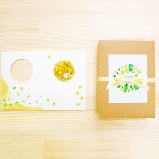 Green Fruit Gift Card - Dry Flower Card - Happy Birthday - Free Write