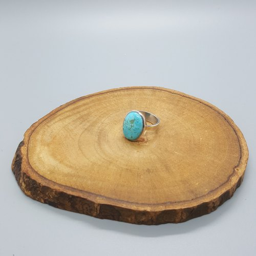 Turquoise Stone Silver Ring (sterling silver)