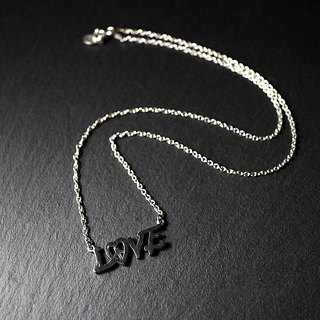Silver Love Necklace Love & Peace