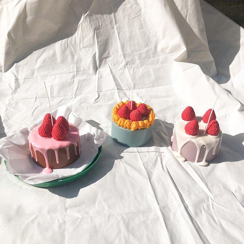 蛋糕形蠟燭