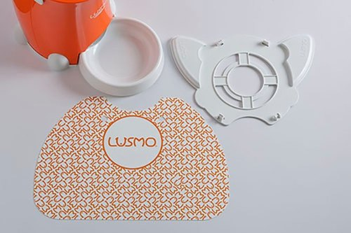 Japan Lusmo Pet Timed Automatic Feeder Special Placemat Set - Orange