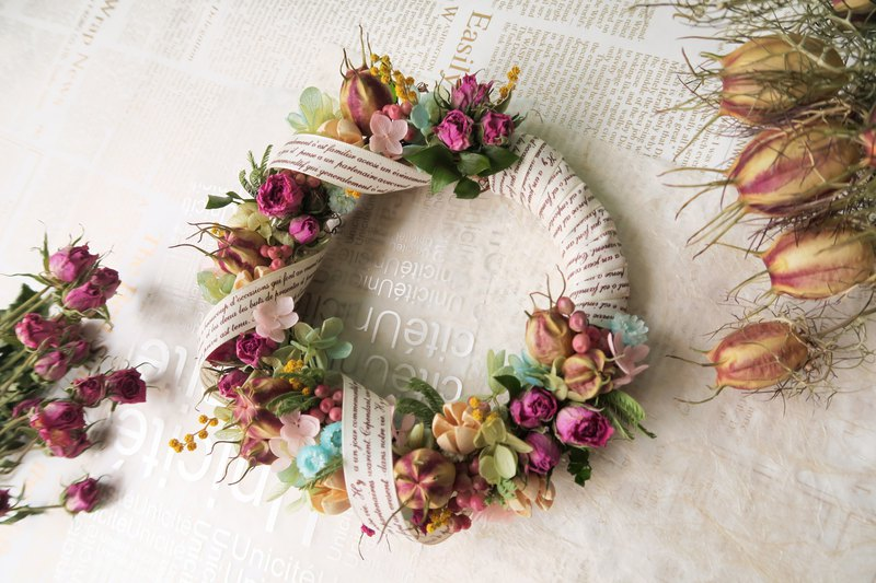 Mansen Dry Flower Creative Hand Wreath/Wreath