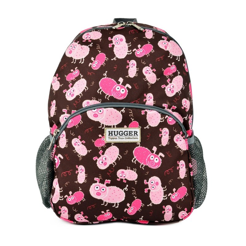 HUGGER toddler piggy backpack childish fun colorful graffiti