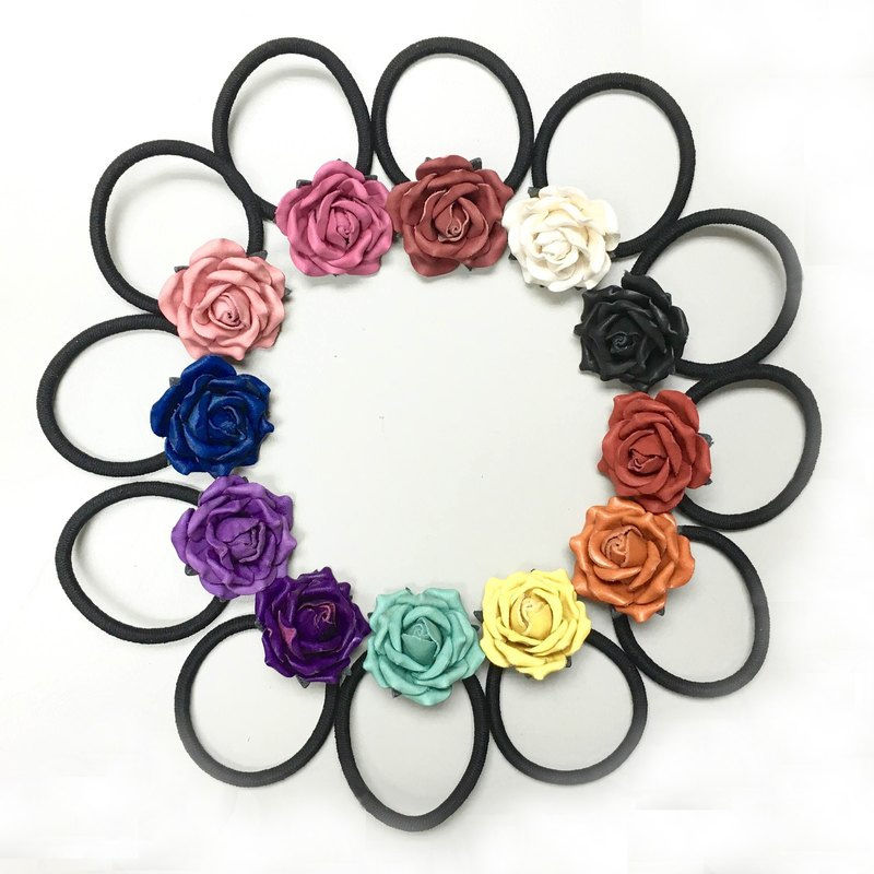 Leather Rose Hairband