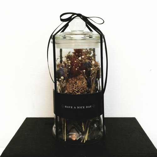 Little prince dried flower glass gift cans