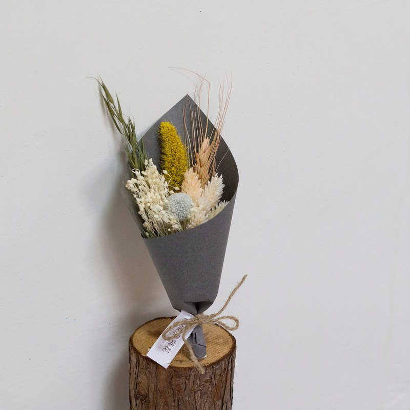 [healing manor] dry bouquet / dry flower gift / yellow green / Christmas / Christmas gift / exchange gift