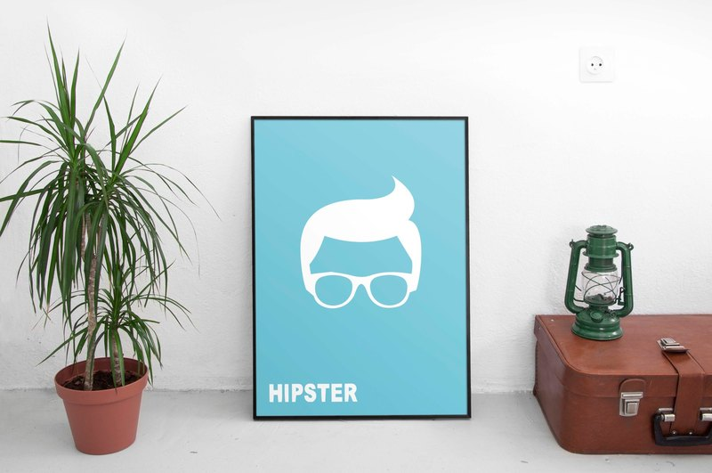 Hipster! # 1 (background color can be changed)