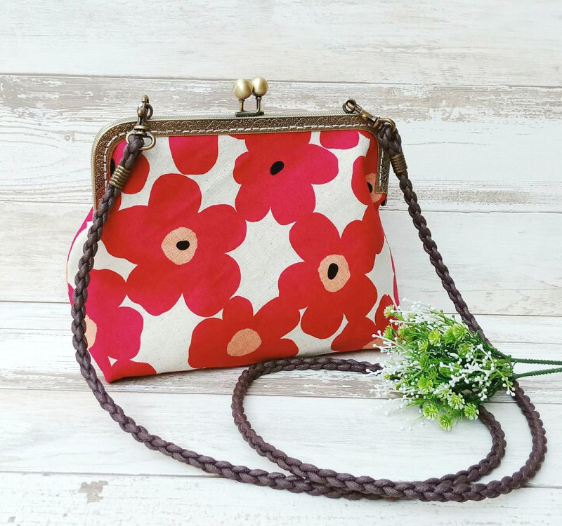 [Golden Crossbody Bag] Japanese Big Flower