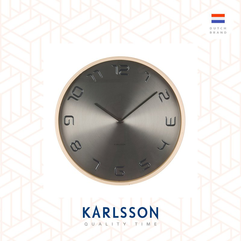 Karlsson, Wall clock Bent wood brushed steel