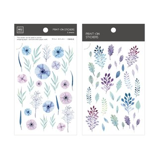 [Print-On Stickers] | Flower Series 14 - Morning Glory | Handbook, DIY Friends