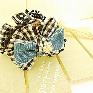 §HUKUROU§ double-sided French bow clip (middle)