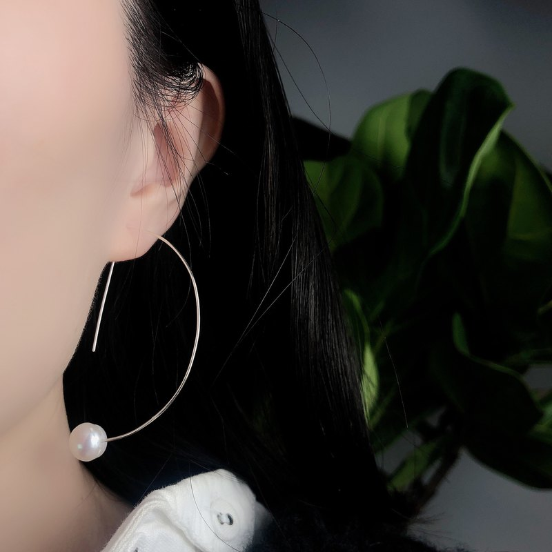 Between lines, semi-circular, wild earrings