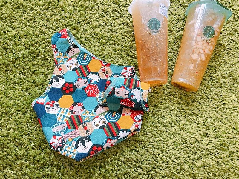 酒袋型/雙杯環保飲料杯袋/雙杯袋-日本和風