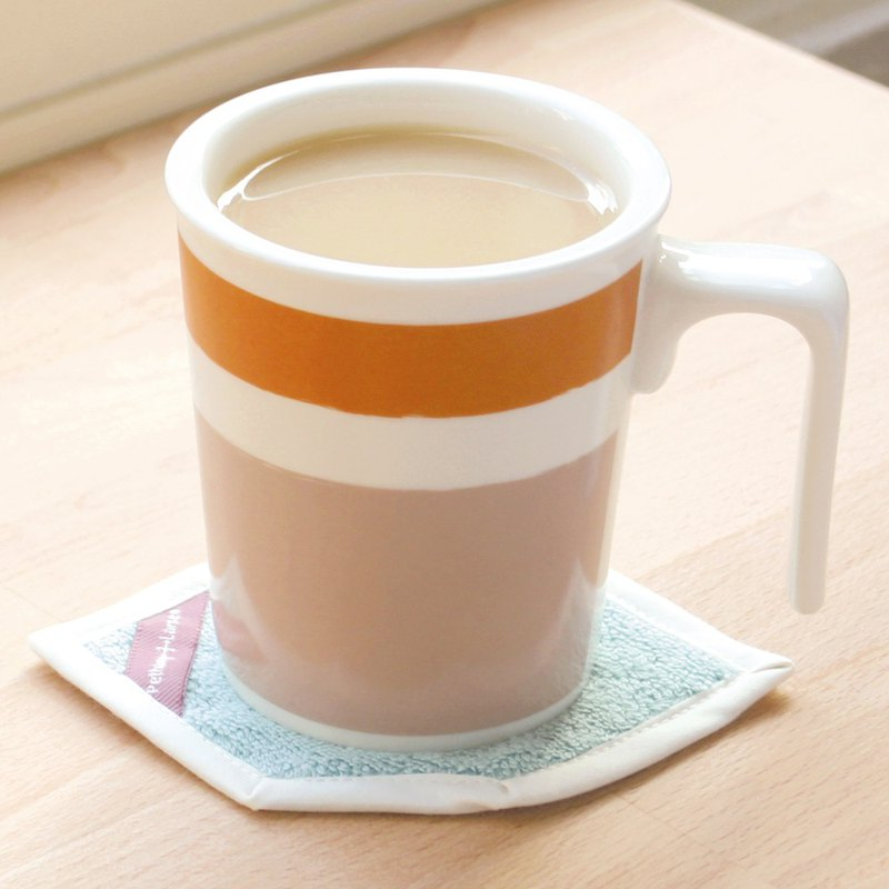 [Good color office] Cappuccino kiss mug cotton coasters ceremony
