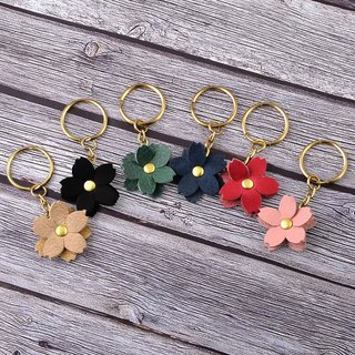 U6.JP6 handmade leather goods - handmade imported leather - flower charm / flower key ring