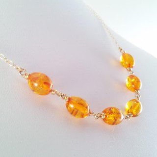 Amber Parade (Amber) / K14GF Necklace