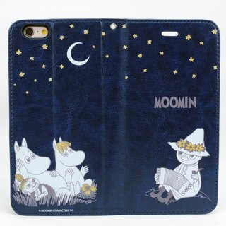 "Moomin Moomin genuine authority - Magnetic phone Case (dark blue): [] Midsummer Night ""iPhone / Samsung / HTC / ASUS / Sony"""