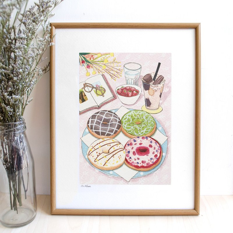 doughnut -illustrated print