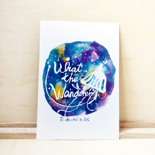 【Watercolor illustration postcard】What the wanderer? . The faith of Traveller