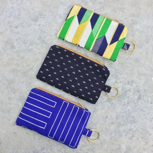 钥匙圈/零钱钞票钥匙包 -Japanese Prints Unisex Slim Pocket Zip Purse