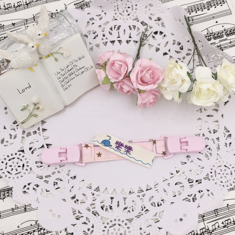 * Princess puff sugar - Hand-headed handkerchief ★ Universal clip clip pacifier clip ★ ★ ★ Name Article Kindergarten necessary Flag ★ E-15