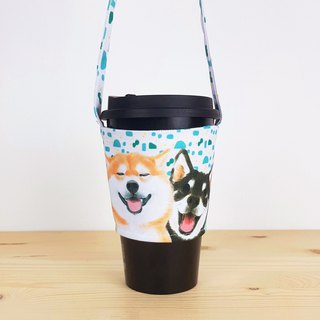 Shiba Shuangbao Eco Cup Set/Beverage Bag/Animal Pet Styling