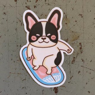 Fighting surf small waterproof sticker SS111