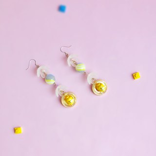 Flowers glass color Emoji LEGO Earring
