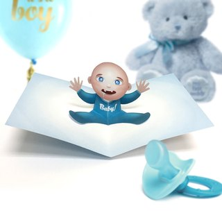 Baby Boy Card | Baby Birthday Card | Baby Boy Birthday Card | Baby Pop Up Card