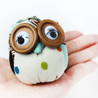Owl Charm Key Ring Guardian Sky Blue