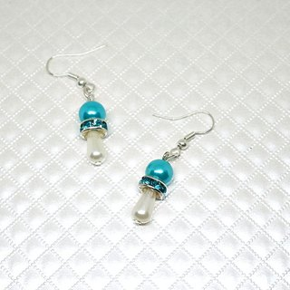 Alloy * blue water drops * _ hook-type earrings ➪ limited X1