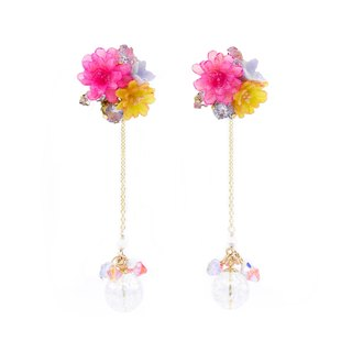 Pamycarie ZINNIA Mermaid Gold-plated 925 Silver Detachable Dangle Earrings