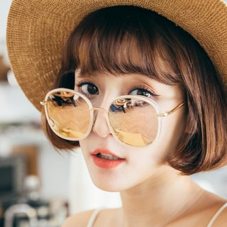 Dress│Pink Color mirror coating Square Sunglasses