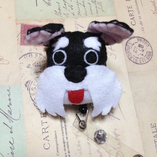 """Christmas gift"" Schnauzer - Art retractable badge clips"
