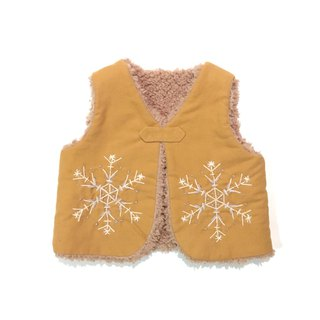The snowy Babyvest   Orange camel