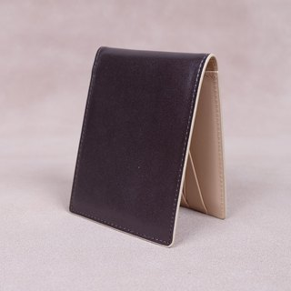 Money Clip / Card Case / Italy Cow Leather(Dark Brown2)