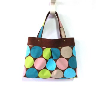 Pop style-brown mine tote bag, handbag, handmade, canvas