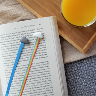 Rainbow bookmark - set of 2 │ rainbow / reading / ribbon