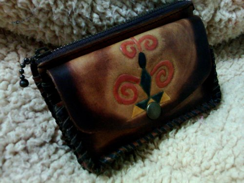 〖LEGENDS〗handmade leather-carving pouch (Fata'an leather-carving series)