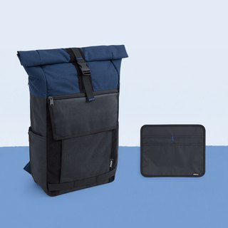 Activities countdown D + 1 backpack combination - mine black ash × ink blue 1