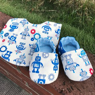 Robot Moon Gift Box - Toddler Shoes + Duplex Bib