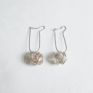 Big line spiral/Earrings/Sterling Silver/By hand【ZHÀO】SZE1654
