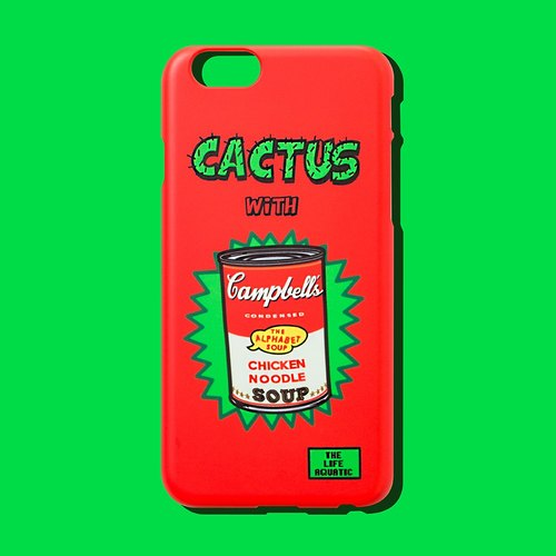 Andy's soup cans CACTUS WITH SOUP / Korea design and manufacture / phone shell / for iphone 6,6 +, 7,7 + /